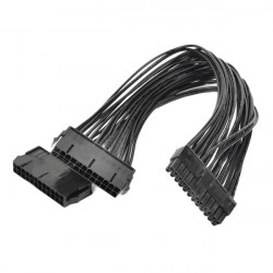 1-to-2 24-Pin Power Supply Cable For Mac OS X Windows