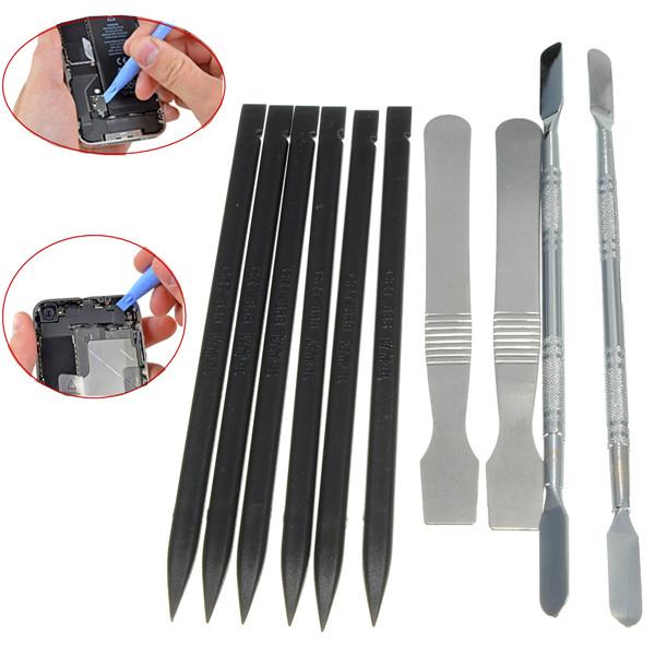 10 i 1 Åbning Reparation Værktøj Sæt Metal Pry spudger For iPhone Tabletter