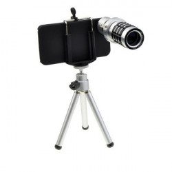 12 X Optical Zoom Telescope Kamera Lens with Tripod For iPhone4 4S