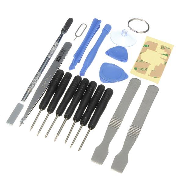 18in1 Mobiltelefon Kits Sucker Pry Skruetrækker Reparation Værktøj iPhone 6 Plus