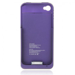 1900mAh Externt Backup Batteri Fodral Power Laddare för iPhone 4G 4S
