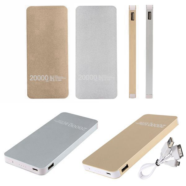 20000mAh Bærbar Ekstern Batterioplader Powerbank til iPhone iPhone 6 Plus