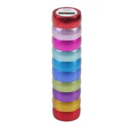 2000mAh Färgglada Aluminum Alloy Cylinder PowerBank för iPhone