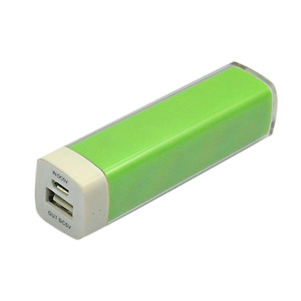 2200mAh Læbestift Grain Mønster Powerbank til iPhone Smartphone iPhone 4 4S