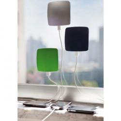 2500mah Fönster Absorption Solar Powerbank för iPhone Smartphone