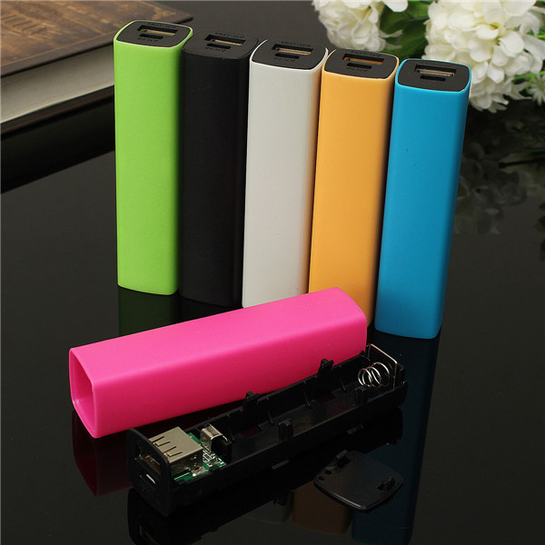 2600mah 5v 1a USB Powerbank Fodral Charger Diy Box för iPhone iPhone 6 Plus