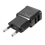 2 Dubbla USB-portar Charger Adapter Europeisk Laddare för iPhone Smartphone iPhone 5 5S 5C