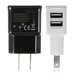 2 Dubbla USB-Portar Us Plug Laddare Adapter för iPhone Smartphone iPhone 5 5S 5C