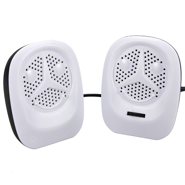 2X Bærbar USB-musikafspiller Højttaler til PC Laptop Computer Mobil Højttalere & Høretelefoner