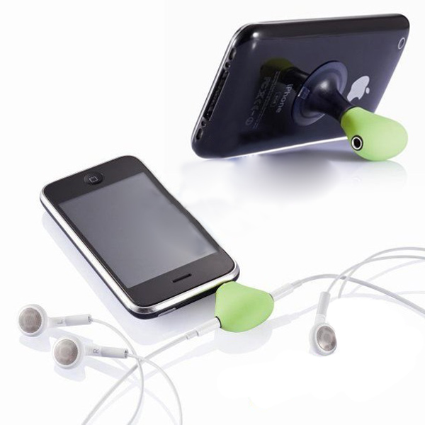 2 in 1 3.5mm Stereo Earphone Splitter Suction Cup Stand For iPhone 4 Mac Accessories