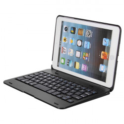 2in1 Bluetooth Tangentbord Vikbar Väska Ställ  för iPad Mini