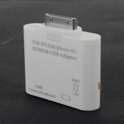 30 Stifts Docknings till Hdmi Hdtv Av Adapter USB Connection Kit för iPhone iPad