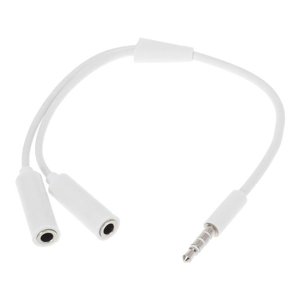 3,5 mm Stecker auf 2 weiblich Kopfhörer Audio Kabel für iPhone Smartphone iPhone 5 5S 5C