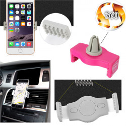 360° Drejeligt Universal Bil Air Vent Holder til iPhone Smartphone