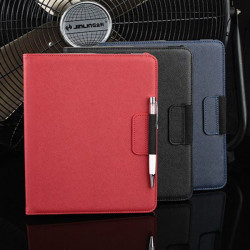 360 Degree Rotating Cross Lines Leather Smart Case Cover For iPad 2 3