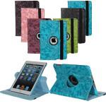 360°  Roterande Embossed Flower PU Läderväska till iPad Mini iPad Tillbehör