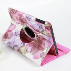 360° Roterande Blommönster PU Läder Smart Fodral för iPad Mini