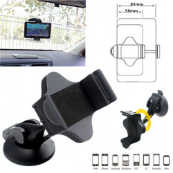 360°Universal Car Windshield Suction Cup Mount Holder For iPhone