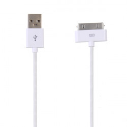 3X 1M USB Data Sync Laddare Kabel för iPad iPhone 4S 4GS 4 iPod