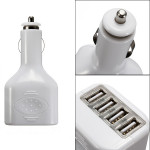 4 USB-Portar 2a Mini Auto Bil Ström Laddare Adapter för iPhone iPad iPhone 5 5S 5C