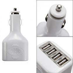 4 USB-Portar 2a Mini Auto Bil Ström Laddare Adapter för iPhone iPad