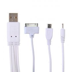 4 I 1 Universal USB-Laddare Kabel för iPhone Smartphone