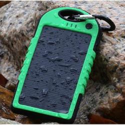 5000mah Vattentät Stötsäker Solpanel Powerbank för iPhone6