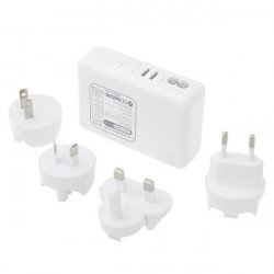 5 Ports 5V 4A USB Charger With 4 Plug adapters For iPhone Smartphone