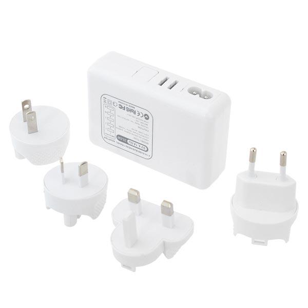 5 Ports 5V 4A USB Ladegerät mit 4 Steckadapter für iPhone Smartphone iPhone 5 5S 5C