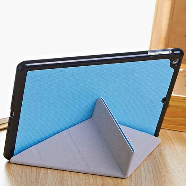 5 Former Magnetisk Ställ Flip Thin PU Läderväska till iPad Air iPad Tillbehör