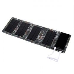 5W 8000mAh Folding Panel Solar Powerbank Cover til iPhone Smartphone