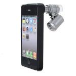 60X Zoom LED Lupe Lupe Optical Mini Mikroskop Objektiv für iPhone 4 iPhone 4 4S
