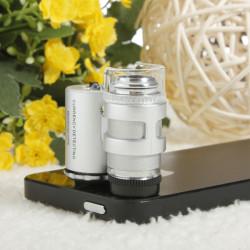 60 x Zoom Mikroskop Vergrößern Lupe Mikroobjektiv für iPhone 4 4S