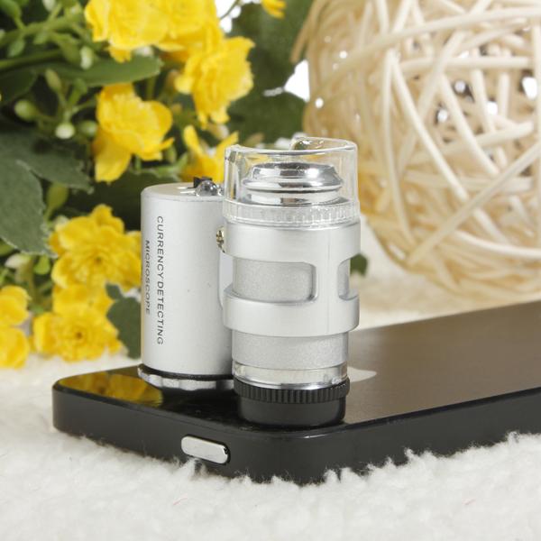 60 X Zoom Mikroskop Förstora Magnifier Micro Lens för iPhone 4 4S iPhone 4 4S
