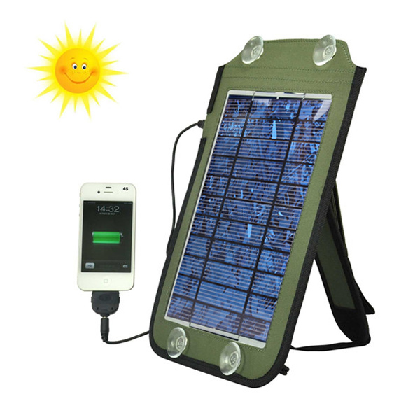 7w Solpanel Source Power Laddare för iPhone6 ​​smartphone iPhone 5 5S 5C