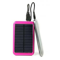 8000mAh Silm Solcellsladdare Batteri PowerBank för iPhone Smartphone