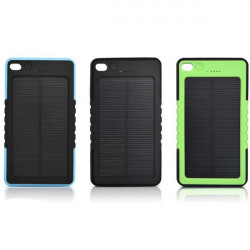 8000mAh Waterproof Shockproof Solar Panel Power Bank For iPhone6