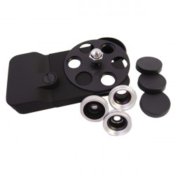 A-8007-P Lens Dial Plast Turtle Jacket för iPhone 4 4S