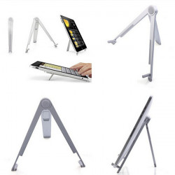 Aluminum Metal Foldable Desktop Mount Table Stand For iPad Tablet