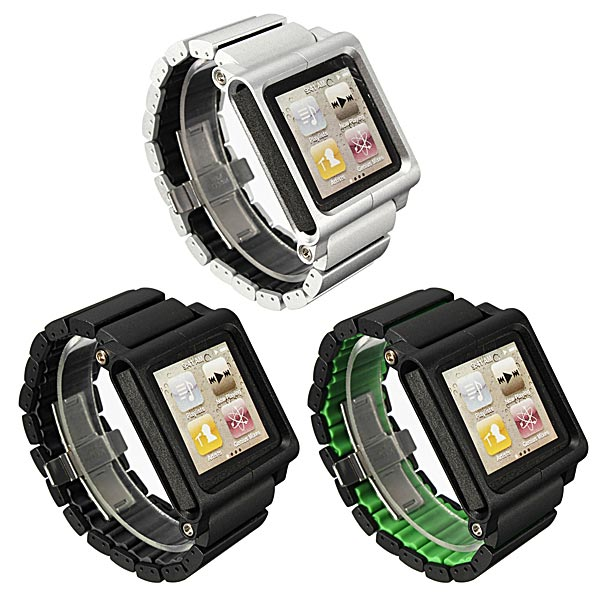 Aluminum Multi-Touch Håndledsrem Watch Band til iPod Nano 6th iPod Tilbehør