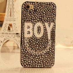 BOY Pattern DIY Stuck Drill Phone Case Stuff Bags For iPhone 4 5