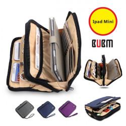 BUBM Double Två Skikt Fashion Fodral Förvaringsväska till iPad Mini