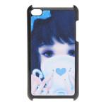 Blau Nettes Mädchen stark Plastik Hülle für den iPod Touch 4 iPod Zubehör
