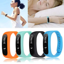 Bluetooth 4.0 Smart Bracelet Sport Healthy Wrist Watch Pedometer