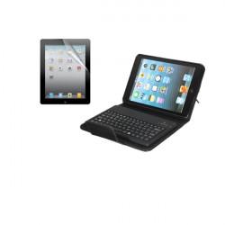 Bluetooth Tangentbord Läderfodral + Skärmskydd till iPad Mini