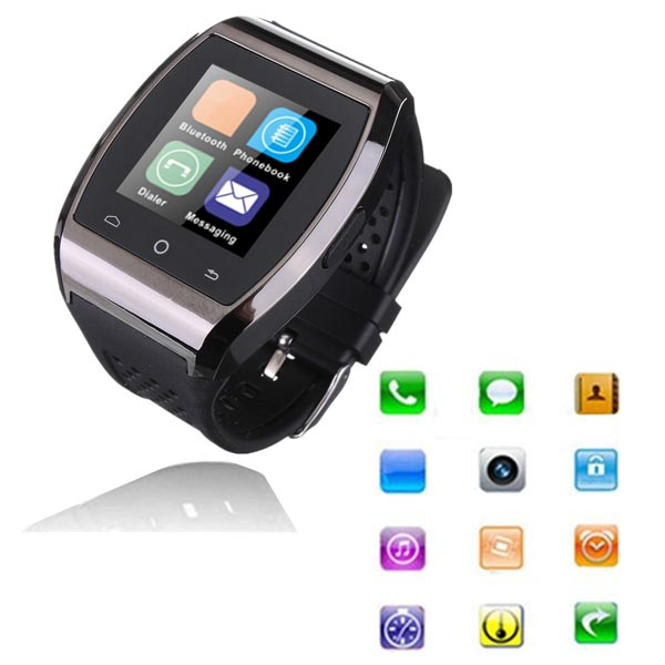Bluetooth Smart Touch Armbanduhr Mate Synchronisierungs Anrufe iPhone 5 5S 5C