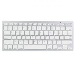 Trådlös Bluetooth Vit Tangentbord för Macbook Mac iPad iPhone