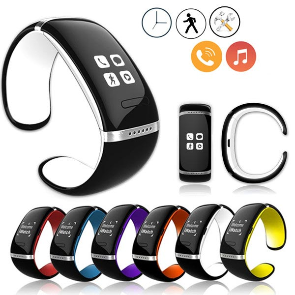 Bluetooth Wrist Smart Bracelet Watch Mobil för iPhone Ios Android iPhone 6