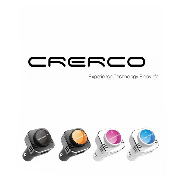 Crerco C100 Bluetooth Headset Trådlösa Hörlurar Billaddare iPhone 5 5S 5C