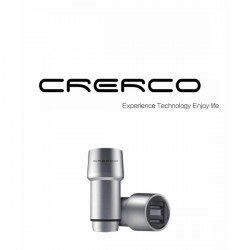 CRERCO Thor T1 Alloy Stainless Steel 4.8A Dual USB Car Charger